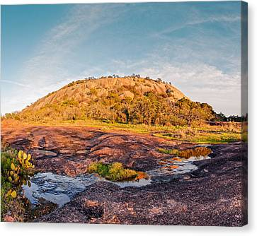Enchanted Rock Bathed In Golden Hour Sunset Light - Fredericksburg Texas Hill Country Canvas Print