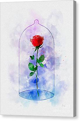 Enchanted Rose Canvas Print by Rebecca Jenkins