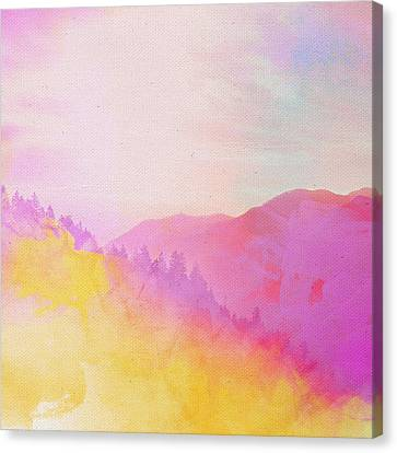 Canvas Print featuring the digital art Enchanted Scenery #2 by Klara Acel