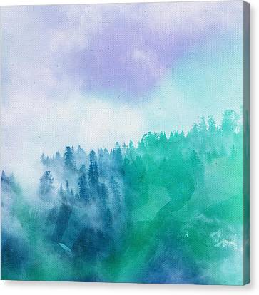 Canvas Print featuring the photograph Enchanted Scenery by Klara Acel
