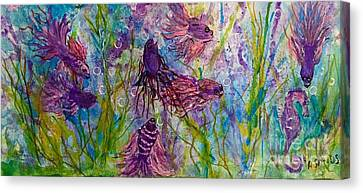 Enchanted Sealife Party Canvas Print