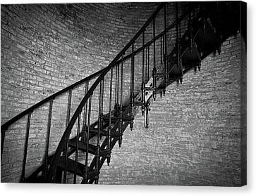 Enchanted Staircase II - Currituck Lighthouse Canvas Print by David Sutton