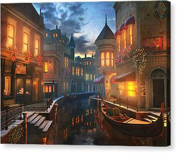 Night Canvas Print - Enchanted Waters by Joel Payne