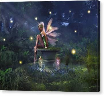 Enchantment - Fairy Dreams Canvas Print by Melissa Krauss
