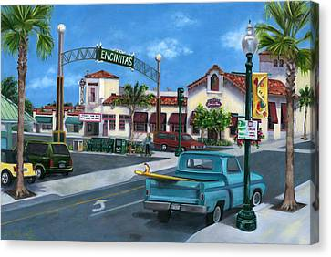 57 Chevy Canvas Print - Encinitas Dreaming by Lisa Reinhardt