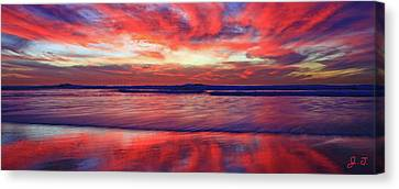 Canvas Print featuring the photograph Encinitas Energy Afterglow by John F Tsumas