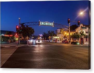 Pch Canvas Print - Encinitas Twilight by Sean Davey