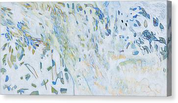 Canvas Print featuring the painting Encounter With An Angel by Linda Cull
