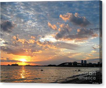 End Of A Beach Day Canvas Print by Keiko Richter