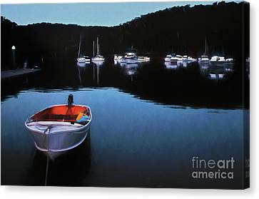 End Of A Beautiful Day Canvas Print by Kaye Menner
