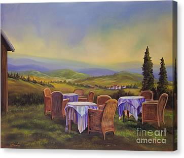 End Of A Tuscan Day Canvas Print by Charlotte Blanchard