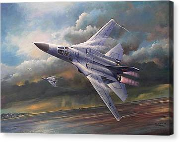 'end Of An Era' F111 Qld Final Flight Canvas Print