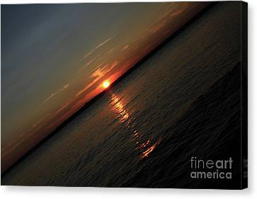 End Of An Off Balance Day Canvas Print by Karol Livote