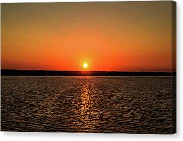 Canvas Print featuring the photograph End Of Day by April Reppucci