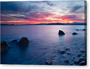 End Of Day At Alki Beach Canvas Print