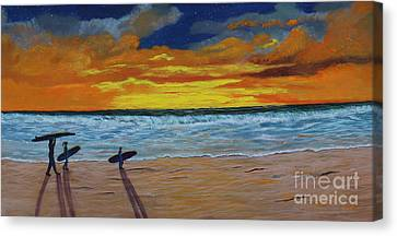 End Of Day Canvas Print by Myrna Walsh