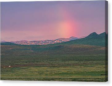 Canvas Print featuring the photograph End Of Rainbow by Hitendra SINKAR