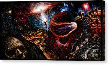 End Of Space Canvas Print by Tony Koehl