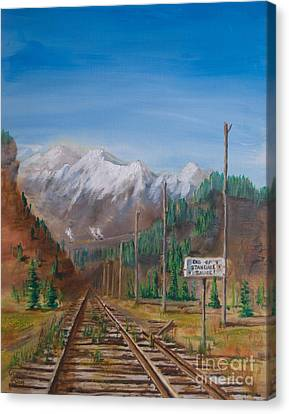End Of Standard Gauge Canvas Print by Christopher