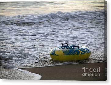 Canvas Print - End Of Summer Huntington Beach by Linda Queally