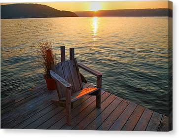 Keuka Canvas Print - End Of Summer II by Steven Ainsworth