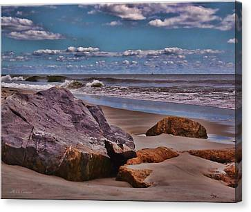 End Of Summer Seascape Canvas Print by Mikki Cucuzzo