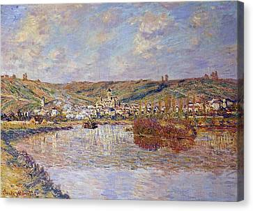 Seaside Heights Canvas Print - End Of The Afternoon, Vetheuil by Claude Monet