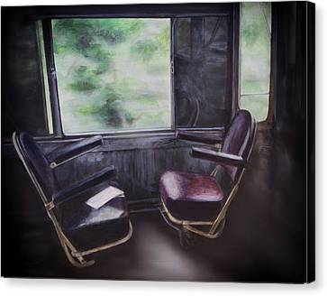 Canvas Print - Seats In Locomotive by Eclectic