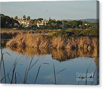 Iberian Canvas Print - End Of The Day In Quinta Do Lago by Angelo DeVal