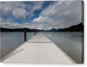 End Of The Dock Canvas Print by Fran Riley