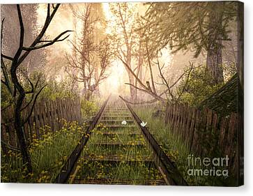 End Of The Line Canvas Print by Alina Davis