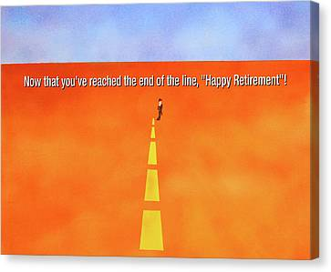 End Of The Line Greeting Card Canvas Print by Thomas Blood
