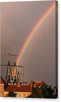End Of The Rainbow Canvas Print by Barry Hayton