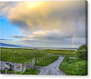 End Of The Road, Brora, Scotland Canvas Print