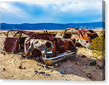 Panamint Valley Canvas Print - End Of The Road II by James Marvin Phelps