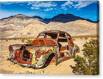 Panamint Valley Canvas Print - End Of The Road by James Marvin Phelps