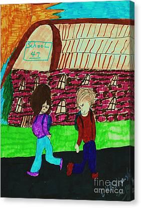 End Of The School Year Canvas Print by Elinor Rakowski