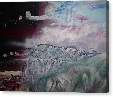 Canvas Print featuring the painting End Of The World by Steven Holder