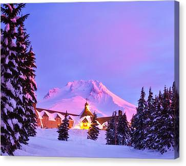 Snowy Scene Canvas Print - End Of The Year by Darren  White