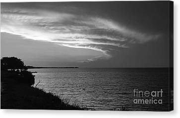 Ending The Day On Mobile Bay Canvas Print