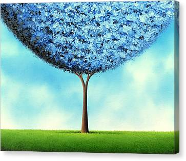 Endless Blue Canvas Print by Rachel Bingaman
