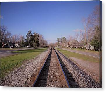 Canvas Print featuring the photograph Endless Railroad by Aaron Martens