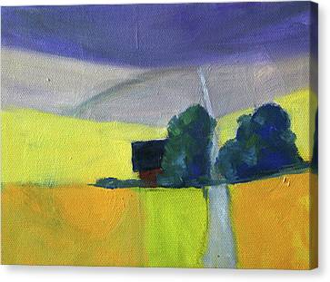 Canvas Print featuring the painting Endless Road by Nancy Merkle