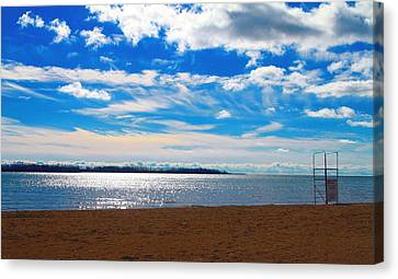 Canvas Print featuring the photograph Endless Sky by Valentino Visentini