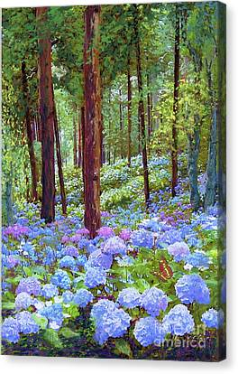 Japan Canvas Print - Endless Summer Blue Hydrangeas by Jane Small