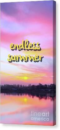 Endless Summer Design Canvas Print by Edward Fielding