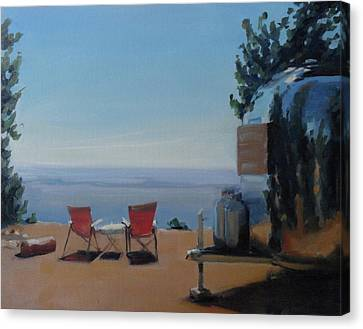 Endless View Boondocking At The Grand Canyon Canvas Print by Elizabeth Jose
