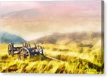 Pioneers Canvas Print - Enduring Courage by Greg Collins