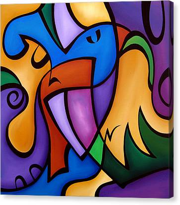 Energized - Abstract Art By Fidostudio Canvas Print by Tom Fedro - Fidostudio