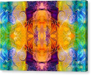 Energy Chambers Abstract Bliss Designs By Omashte Canvas Print by Omaste Witkowski